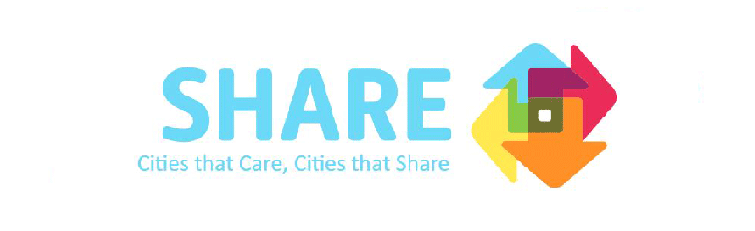 Logotipo Share - Cities that Care, Cities that Share